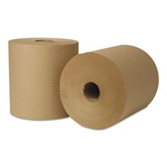 Wausau Paper 31300 EcoSoft Brown 800 Ft Roll Towel - 6 / CS