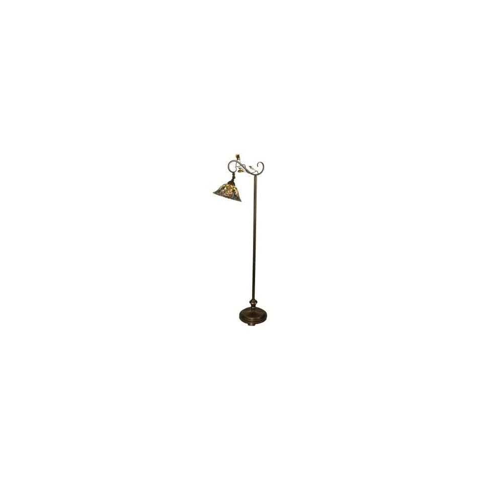 Dale Tiffany Crystal Peony Floor Lamp in Antique Golden Sand Finish