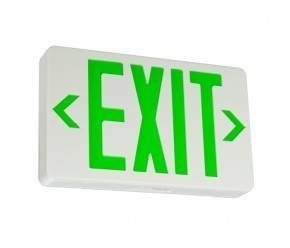 LED Exit Sign with Battery Backup - Green Letters