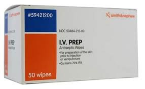 SM59421200 - IV Prep Antiseptic Wipes - 50 count
