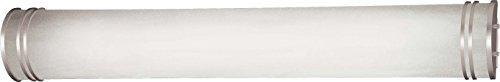 - Minka Lavery Wall Light Fixtures 666-PL Bath Art Glass Bath Vanity Lighting, 2 Light, 50 Watts Fluorescent, Silver