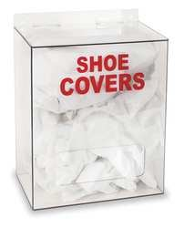 Industrial Grade 4GMT5 Shoe Cover Dispenser, Clear PETG, 14x12x8 by Industrial Grade