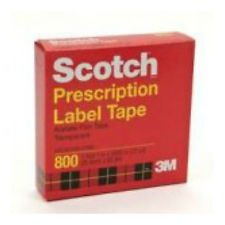 Scotch Prescription Label Tape, 1 Roll 1 in X 2592 in (72 Yards) (6 -