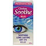 Clinitas Soothe Multi 10ml Dry Eyes - 2 Pack