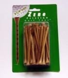 Zero Friction Wood Golf Tees 2 3/4 Natural 75 Pack (Friction Wood Zero Tees)