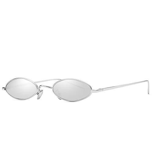 AOOFFIV Vintage Slender Oval Sunglasses Small Metal Frame Candy Colors … ()