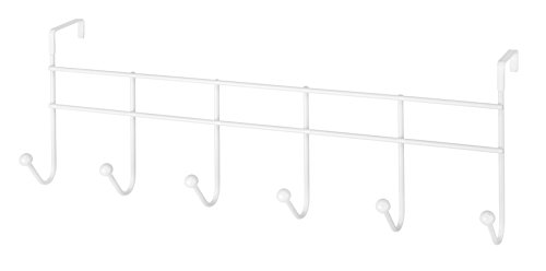 Whitmor Over the Door 6 Hook Rack White