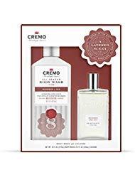 Cremo Bourbon & Oak Body Wash and Cologne Set: 16oz Body Wash, 3.4oz Spray Cologne