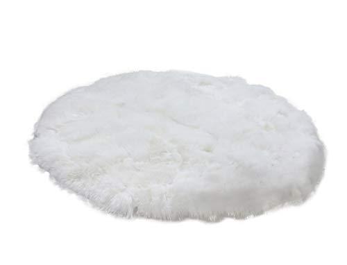Wool Circular Rugs - IMQOQ Genuine Sheepskin Long Wool Circle Circular Floor Rug Carpet Mat 20