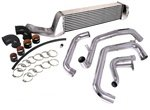 Kits Intercooler Piping Injen (Injen Technology SES1200FMGTWR Polished Large Front Mount Intercooler Kit with Wrinkle Red Piping)