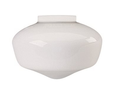 NATIONAL BRAND ALTERNATIVE GIDDS-2489643 2489643 Schoolhouse Ball Globe Ceiling Fixture Replacement Glass, Milky White, 6-5/8