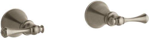 KOHLER K-16217-4A-BV Revival Two-Handle Wall-Mount Bath Valve Trim, Vibrant Brushed ()