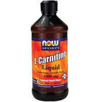 NOW Foods Sports L Carnitine Liquid Tropical Punch 1000 mg 16 fl oz