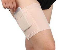 Farbe ANKKO  /® Multifunctional non-slip thigh lace mobile phone bag stretch thigh socks size L