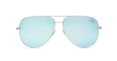 Quay High Key Mirror Silver/Blue Mirror Lens - Quay Sunglasses Cheap