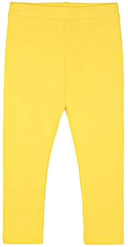 (Lilax Girls' Basic Solid Full Length Leggings 9 Yellow)