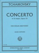 Tchaikovsky: Concerto in D Major, Op. 35, for Violin and Piano (Sheet Concerto Music Violin)