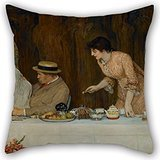 Artistdecor Throw Cushion Covers Of Oil Painting Robert Walker Macbeth - Our First Tiff,for Family,club,lover,kids Boys,drawing Room,shop 18 X 18 Inches / 45 By 45 Cm(twice Sides)]()