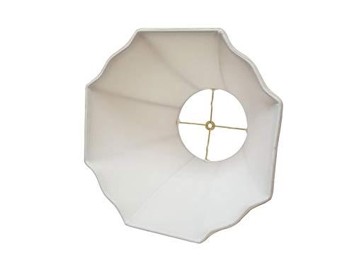 Royal Designs BSO-701-16EG Flare Bottom Outside Corner Scallop Basic Lamp Shade, 9 x 16 x 12, Eggshell