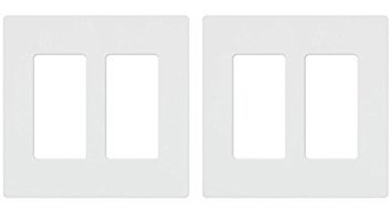 (Lutron CW-2-WH 2-Gang Claro Wall Plate, White, Pack of 2)