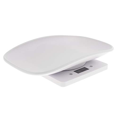 Kesoto Smart Pet Dog Cat Scale 22 Pound (lbs) Capacity, Accurate Digital Scale White ()