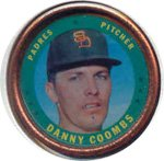 1971 Topps Topps Coins (Baseball) card#49 Danny Coombs of the San Diego Padres Grade very good/excellent