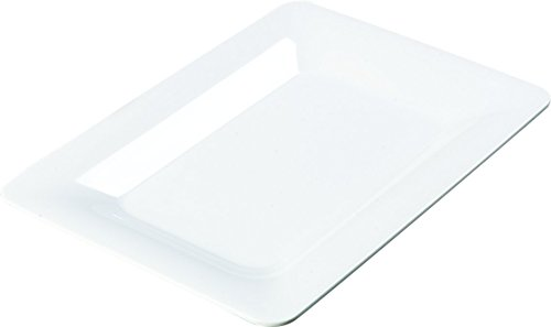 Designer Platter - Carlisle 4441402 Designer Displayware Melamine Wide Rim Rectangle Platter, 14