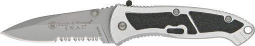 Smith & Wesson SWATS S.W.A.T Small Serrated Assisted Opening - Wesson Swat And Smith Knife