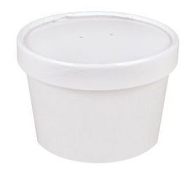 Sweet Bliss Cup Frozen Dessert Containers, 8 oz., 25CT, White