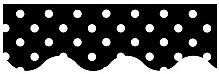 Black Mini Polka Dots Border Trim -- Case of 11