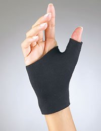 FLA Orthopedics Prolite Neoprene Pull on Thumb Support, Black, Medium - Buy Packs and SAVE (Pack of 5) by FLA Orthopedics