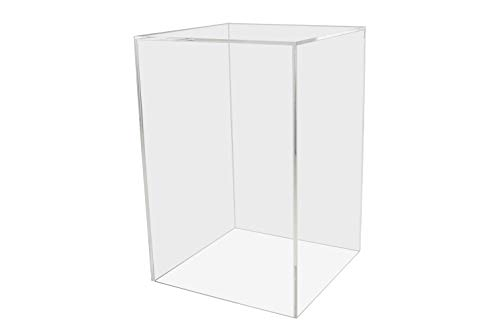 (Marketing Holders Acrylic Jewelry Display Box Cube Toys Trinkets Collectible Items Safety Dust Cover Rectangular 5 Sided Show Case Art Easel Pedestal Display 6