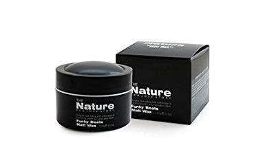 Hair Styling Wax for Men - Strong Hold & Matt Finish, Good Smell & Easy to Wash off, 3.12 oz. - The Nature Eco Love Story Funky Beats Matt Wax