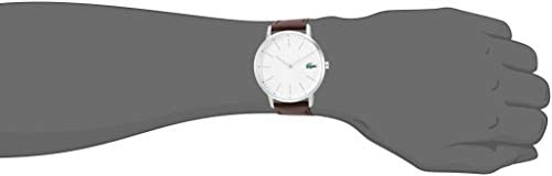 Lacoste Men's Stainless Steel Quartz Watch with Leather Strap, Brown, 20 (Model: 2011002) 2