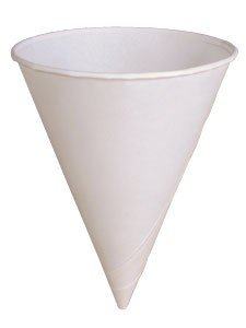 Solo 4R-2050 4 oz White Paper Cone Cups (Case of -