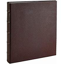 "Post Impressionsâ""¢ System Standard 3-ring Binder unfilled Pebble-Brown Eco-leather - 8.5x11"