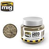 Ammo of Mig Jimenez Light Earth Ground - Acrylic Mud 250mL Jar #2102