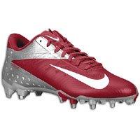 Nike Vapor Talon Elite Low Men's Molded Football Cleats (12, Crimson/White-Chrome)