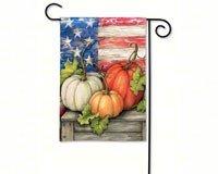 BreezeArt Patriotic Pumpkins Garden Flag 31040