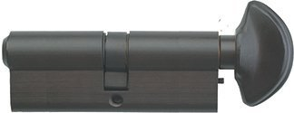 Rockwell 360 degree Solid Brass Euro profile Cylinder in Oil Rubbed Bronze Finish Total Length 3-1/2