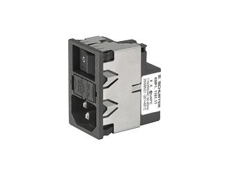 SCHURTER KMF1.1161.11 AC Power Entry Modules 6A 2-P SW 2-P FUSE 10A/250VAC No/Drawer - 20 item(s) by Schurter