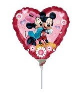 Mickey & Minnie Heart Mini Anagram Balloons (Mini Mickey Balloon)