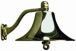 Cast Chromed Brass Bell 6'' Dia.