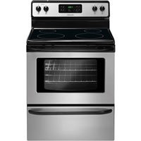 """UPC 012505503283, FFEF3017LS Stainless Steel 30"""" Freestanding Electric Range with 5.3 cu. ft. Capacity One-Touch Self Clean 4 Radiant Elements Ready-Select Controls Auto Shut-Off & Delay"""