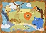 "Joy Carpets Kid Essentials Infants & Toddlers Jungle Babies Rug, Multicolored, 3'10"" x 5'4"""
