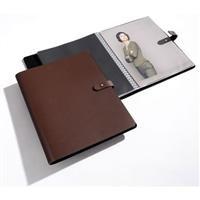 PAMPA professional leather 11x17 ring album by PRAT Paris - 11x17