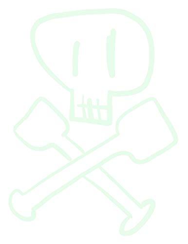 hBARSCI Skull & Crossbones Vinyl Decal - 5 Inches - for Cars, Trucks, Windows, Laptops, Tablets, Outdoor-Grade 6mil Thick Vinyl - Glow in The Dark]()
