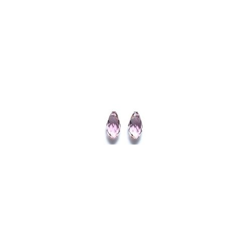 Swarovski 6010 Briolette Drop Beads, Crystal Effects, Antique Pink, 5.5 by 11mm, 2 Per Pack