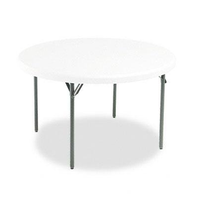 Iceberg - Indestructables Too 1200 Series Resin Folding Table 48 Dia X 29H Platinum ''Product Category: Office Furniture/Activity & Utility Tables''