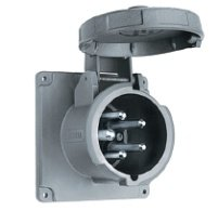 Hubbell M5100B9R 100A 30Y 120/208V Inlet - 3 Phase